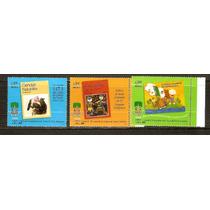 1999 Mex. 40 Aniv. Libros De Texto Gratuito 3 Sellos Nuevos