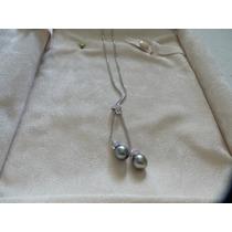 Gargantilla Oro Solido 14 K Kt~perlas De Tahiti Y Diamantes