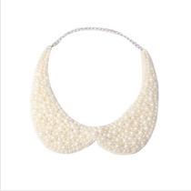 Gargantilla Retro Con Perlas Artificiales