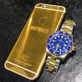 Iphone 5/5s De Oro 24k Case Armazón