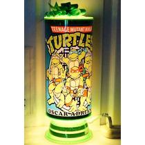 Tortugas Ninja Centros De Mesa,recuerdos,lamparas,personaliz