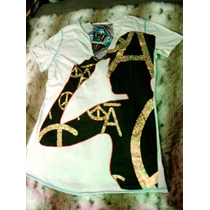 Playera Christian Audigier Blanca Lovestock Ranch Large