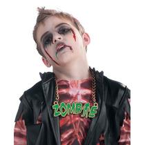 Traje Del Zombi - Vestido De Lujo De Halloween Collar Infant