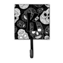 Letra K Día De La Correa Cráneos Muertos Negro O Titular D