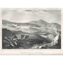 Lienzo Tela Grabado Nebel Veta Grande Zacatecas 1836 50x67cm