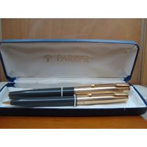Juego De Pluma Fuente Y Lapicero Parker 61 Y Frasco De Tinta