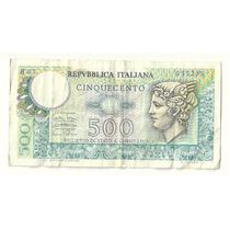 Billete Italia 500 Liras (1974) Mercurio Lqe