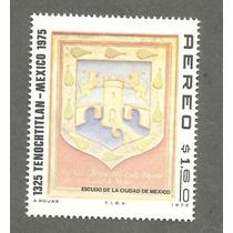 Estampilla Escudo Cd De Mexico 650 Aniversario