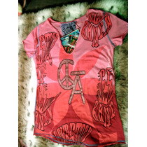 Playera Christian Audigier Rosa Lovestock Ranch Small