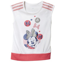 Playera Entrenamiento Minnie Disney Niña Bebe Adidas Ab5060