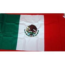 Bandera Mexicana Bordada Muy Detallada