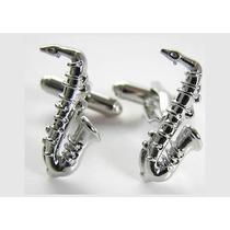 Mancuernillas Saxofon Musico Instrumento Traje Camisa Acero
