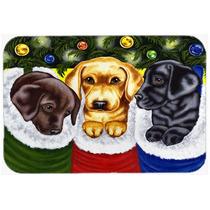 Media De La Navidad Sorpresa De Labrador Cocina O Baño Mat