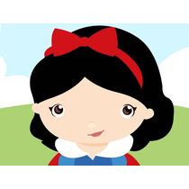 Kit Imprimible Princesa Blancanieves Baby Tarjetas Y Mas #1