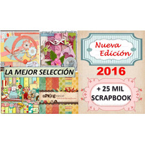 Kits Completos Para Scrapbook Digital Imprimible + 25 Mil