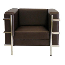 Sillón Corbu Vinil Arm Chair By Promöbel / Lc2 Le Corbusier