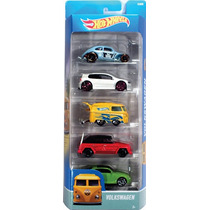 Hot Wheels 5 Pack Vw Volkswagen New Beetle Combi Safari Golf