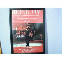 Bumbury Poster Gira Pequeño Cabaret Ambulante Autografiado