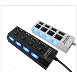 Hub Usb 2.0 4 Puertos Con Switch Led Laptop Pc Alta Velocida