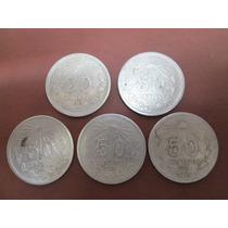 Monedas De 50 Cvo. Antiguas En Plata Ley .720. Hm4