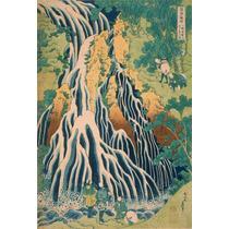 Lienzo Tela Cascada Kirifuri Katsushika Hokusai 74 X 50 Cm