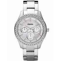 Reloj Fossil Mod. Es2860 Plateado Para Dama