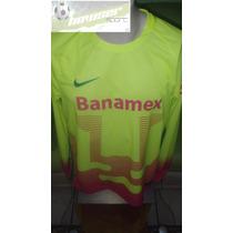 Jersey Nike Pumas Dela Universidad Portero 100%original15-16