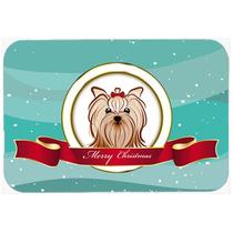 Yorkie Terrier Yorkishire Feliz Navidad De Vidrio Tabla De C