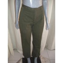 Pantalon Verde Militar Banana Republic Strecht Talla S