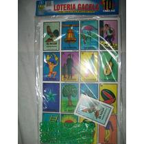 Gcg Juego Loteria Gigante Carton Con 10 Tablas Y Fichas