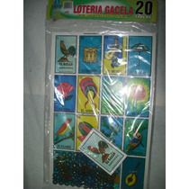 Gcg Juego Loteria Gigante Carton Con 20 Tablas Y Fichas Lqe