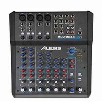 Mezcladora De Audio Alesis Multimix 8 Usb Fx Mixer 8canales