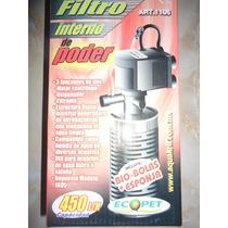 Filtro Interno 450l/h Filtra Oxigena P/acuarios 90-150litros