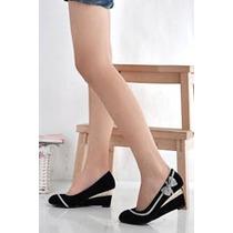 Bonitos Zapatos Medio Tacón Y Moño Ropaccesorios