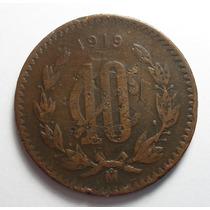 10 Centavos 1919 Mo Eu Mexicanos