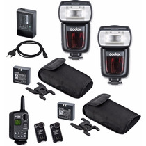 Kit Con 2 Flashes Ving 850 Con Radio Y Receptor