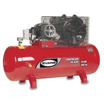 Oferta Compresor 10 Hp Trifasico 500 L 175 Psi Marca Evans