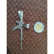 Dije De Ametralladora (metralleta) Plata .925 7.5cm X 3.7cm