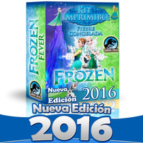 Nuevo Kit Imprimible Frozen Fever Fiebre Congelada 2016 2x1