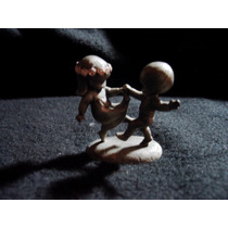 Figuras De Ninos Jugando Hallmark En Pewter De Coleccion
