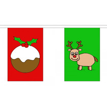Bunting - Navidad 12.5m 24 Grandes Banderas De Navidad Festi