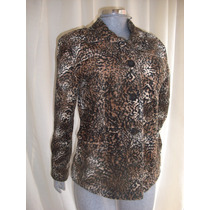 Saco Animal Print Talla M Marca Shontal