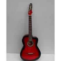 Guitarra Rockera Electroacustica Santa Cruz Totalmente Equip
