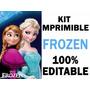 Kit De Frozen Super Imprimible Invitaciones Edición 2016