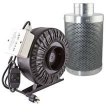 Ventilador 6pulg Filtro Carbón Invernadero Apollo Horticultu