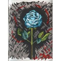 Flor En Azul Obra De Susana Soto Poblette