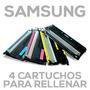4 Cartuchos Para Rellenar Samsung