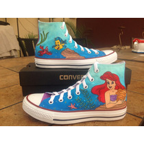 Tenis Pintados Mano Converse The Little Mermaid La Sirenita