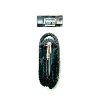 Cable Cpk 6.10m Espiral Negro Recto/angular C172n-6m