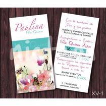 Invitaciones Xv Años Modernas Vintage Mariposa